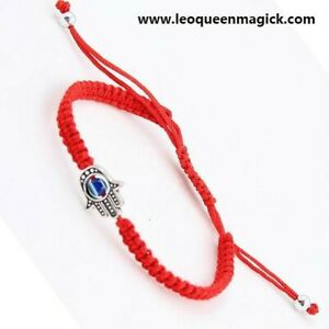 Red-Hamsa-Eye-Kabbalah-Bracelet-Protection-From-Evil-ANOINTED-amp-BLESSED