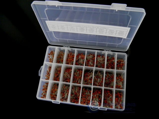 24 value 2400pcs Ceramic Capacitor Assortment Box Kit