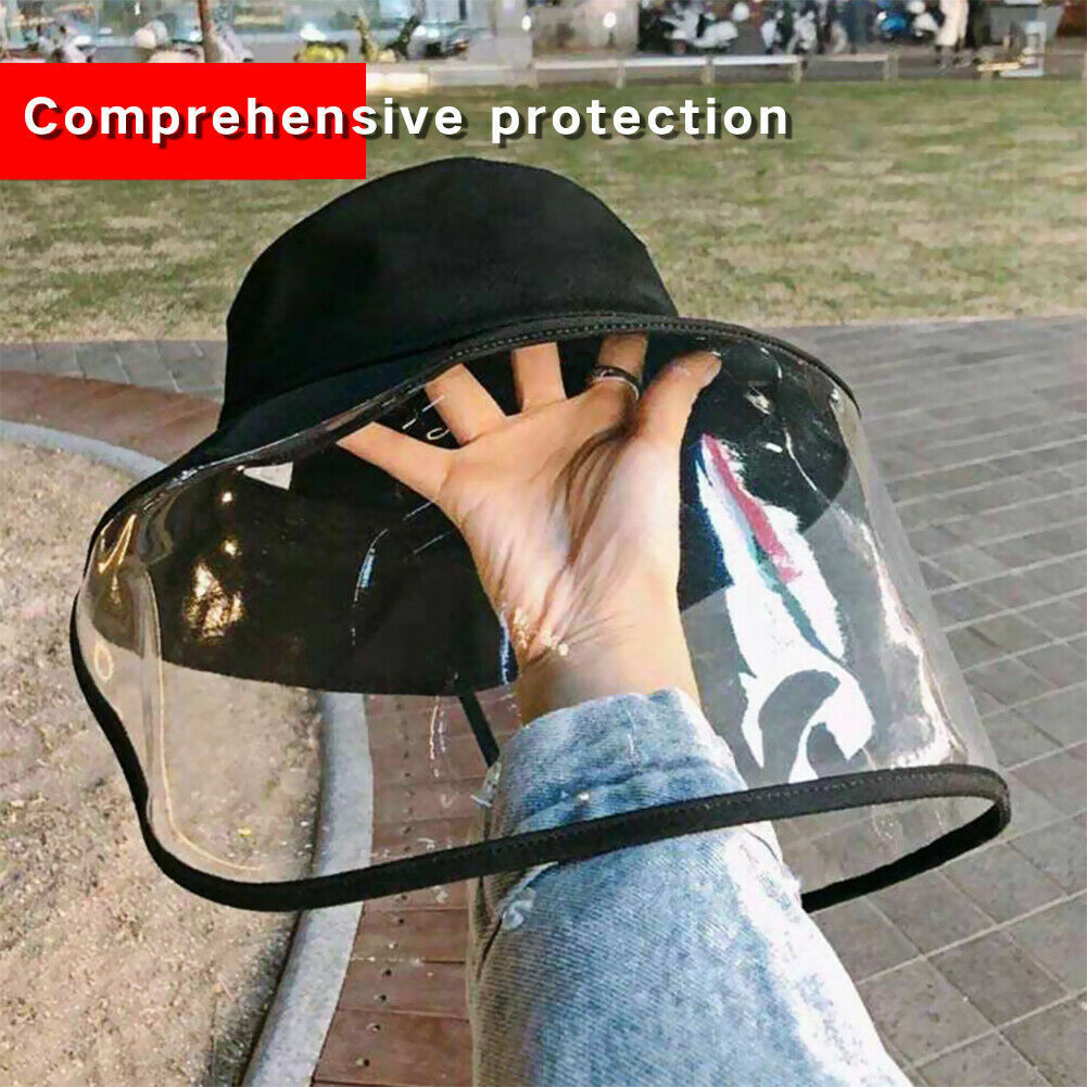 Fisherman Cap + Protective Clear Saliva-proof Dust-proof Sun