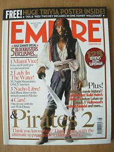 EMPIRE-FILM-MAGAZINE-No-206-AUGUST-2006-PIRATES-OF-CARIBBEAN-2-amp-TRIVIA-POSTER
