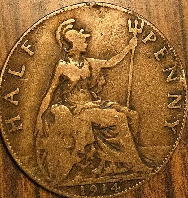 1914 UK GREAT BRITAIN HALF PENNY