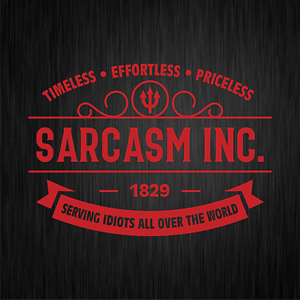 SARCASM-INC-Sarkasmus-Ironie-Spass-Fun-Rot-Auto-Vinyl-Decal-Sticker-Aufkleber