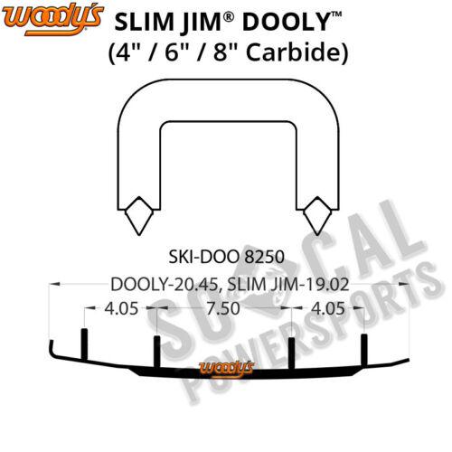 "Woody/'s Slim Jim Dooly 8.0/"" Carbide Runner Ski Doo MX Z 583 1998"