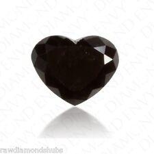 1.50 carats Natural Black Loose Diamond, Heart Cut Loose Diamond, Jewel Use Nr