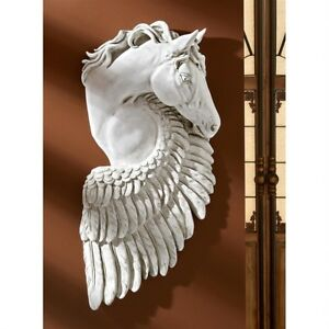Wings-Of-Fury-Pegasus-Horse-Design-Toscano-Wall-Sculpture-Antique-Stone-Finish