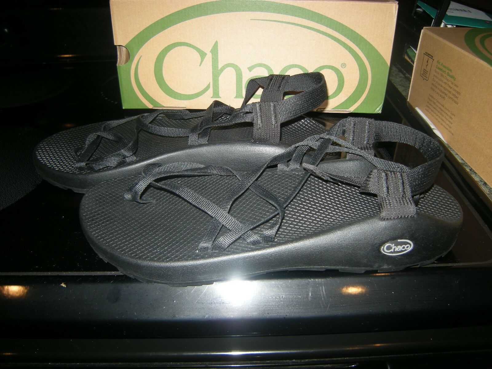 048ee3478bf Brand New Mens Black Black Black Chaco ZX2 Sandals