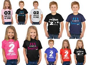 Details Zu 2geburtstag Kinder T Shirt Sprüche Shirt 2 Jahre Kindershirt Geburtstagshirt