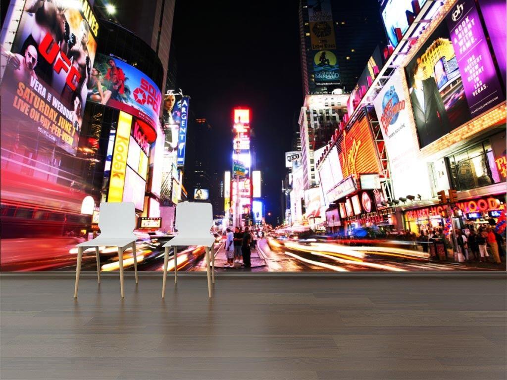3D Nacht Stadt Stadt Stadt Straße 73 Tapete Wandgemälde Tapete Tapeten Bild Familie DE   Geeignet für Farbe    Elegant     8c68de