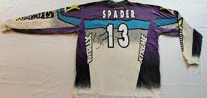 VINTAGE-ATV-Travis-Spader-13-signed-race-Motocross-Jersey-Thom-Veety-Collection