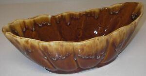 """American ART POTTERY Brush-McCoy # 103 PLANTER Brown 10.5"""" oblong"""