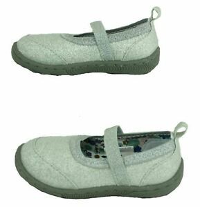 Garanimals Toddler Girls Silver Sparkling Mary Jane Casual Shoes Sneakers Size 3