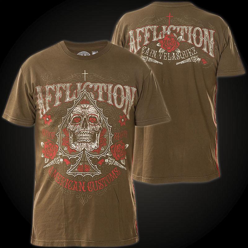 AFFLICTION T-Shirt Velasquez Espada Braun T-Shirts    | Online-verkauf