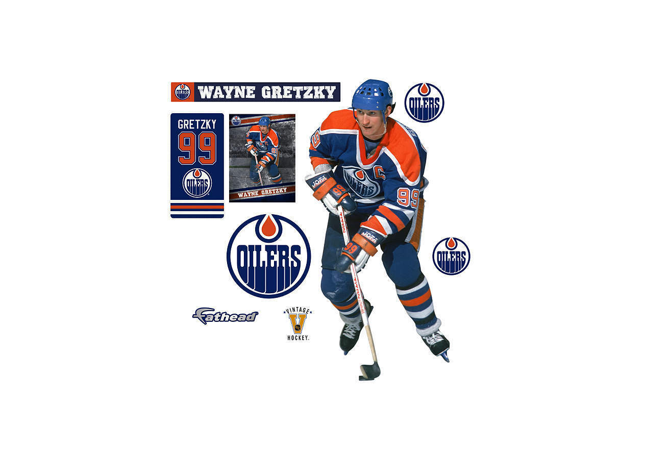Wayne Gretzky Oilers MVP + ALL EXTRAS FATHEAD LIFETaille REAL BIG Wall Graphics