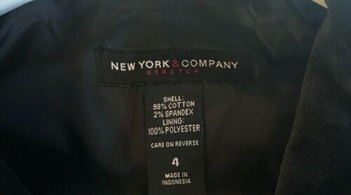 taglia Msrp 4 Giacca nera in Nwt velluto York Company donna nero New 99 74 da wqZvAZ7H