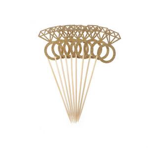 10x-Diamond-Ring-Cupcake-Toppers-Wedding-Party-Wedding-Decoraciones-de-mesa-UHH