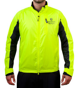 Mens Reflective Breathable Windbreaker Cycling Jacket Biking Gear ...