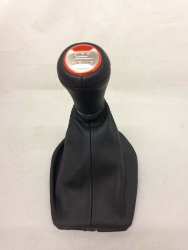 Camaro 2016-18 black leather shift boot knob 6 speed manual Orange stitch 50th