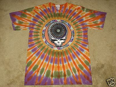 Grateful Dead Steal Your Feathers Manufacture Defect X-Large Tie Dye T-Shirt