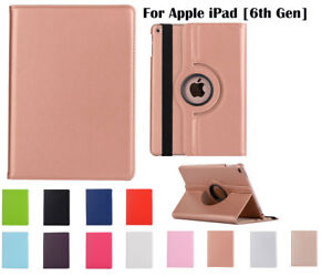 """360°Rotate PU Leather cover case for Apple iPad [6th Gen] 9.7"""""""