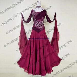 Tassel Latin Dance Dress Clothing Salsa Costume Ballroom Competition Skirt//