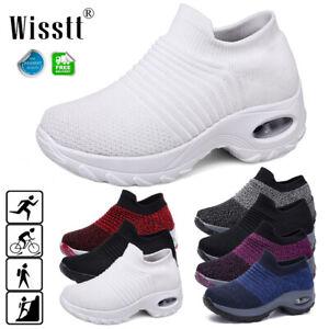 Women-Air-Cushion-Sock-Sneakers-Breathable-Mesh-Walking-Jogging-Running-Shoes-AU