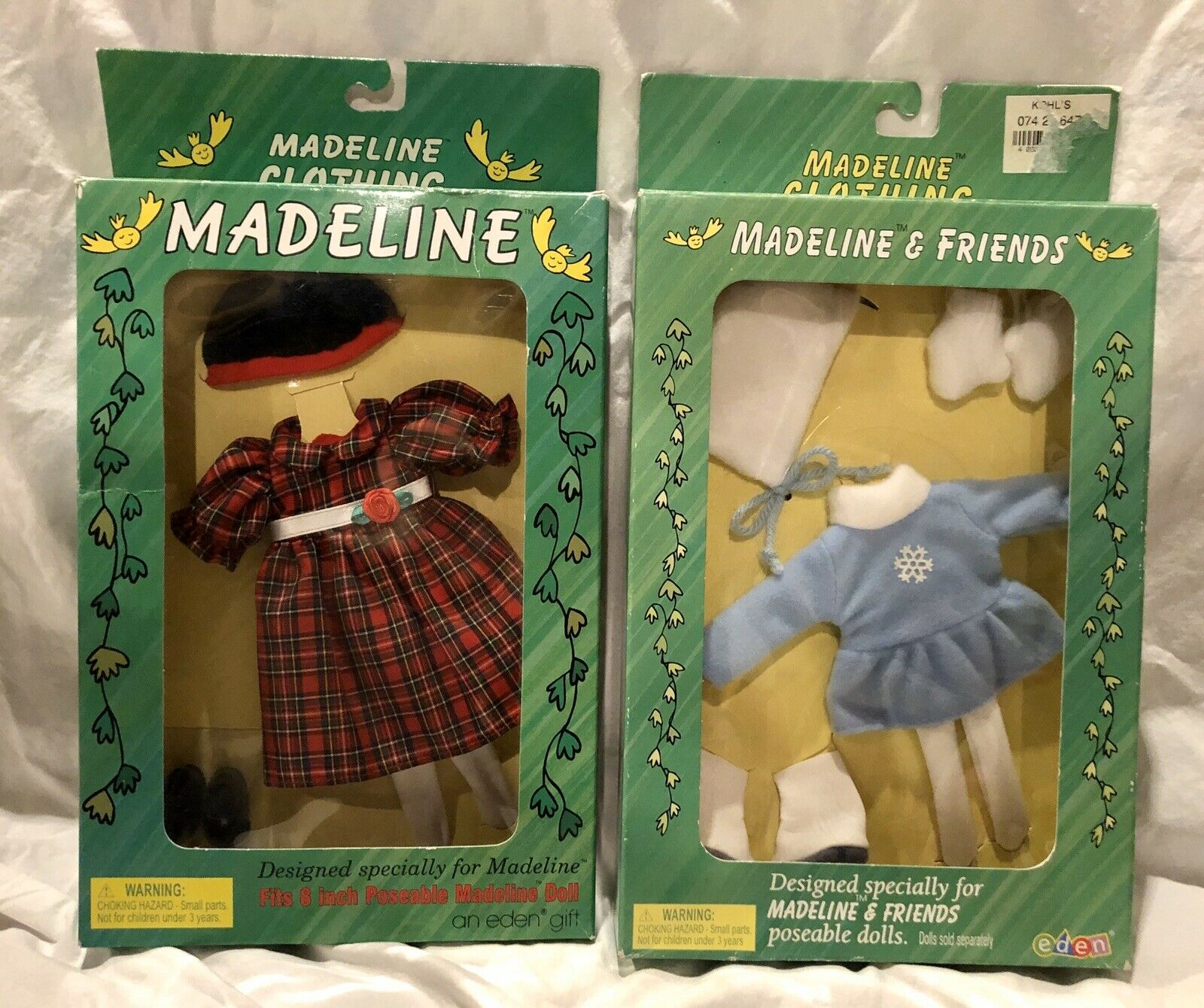 Lot of 2 Madeline Doll Outfits- Holiday Best, Winter Ice Skating Fun - NEW NIB
