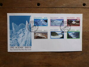 NEW-ZEALAND-1992-SCENIC-ISSUE-SET-6-STAMPS-FDC-FIRST-DAY-COVER