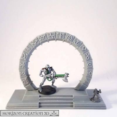 Hc3d-runico Terrain Gate Way-wargames Miniature Paesaggio 40k 28 M 15 Mm-mostra Il Titolo Originale