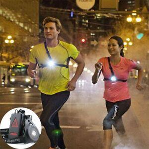 LED Running Chest Lamp Waterproof Warning Light Walking Torch Safety Night Flash
