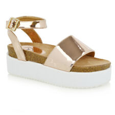 Adrienne Vittadini Claud Flat Comfrot Sandals 290 Rose Gold