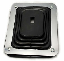 """Hurst Style Rubber Shifter Boot With Chrome Plate 5 5/8"""" X 6 3/4"""" Universal"""