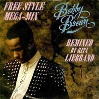 "BOBBY BROWN Free Style Mega-Mix 7"" Single Vinyl Record 45rpm MCA 1990"