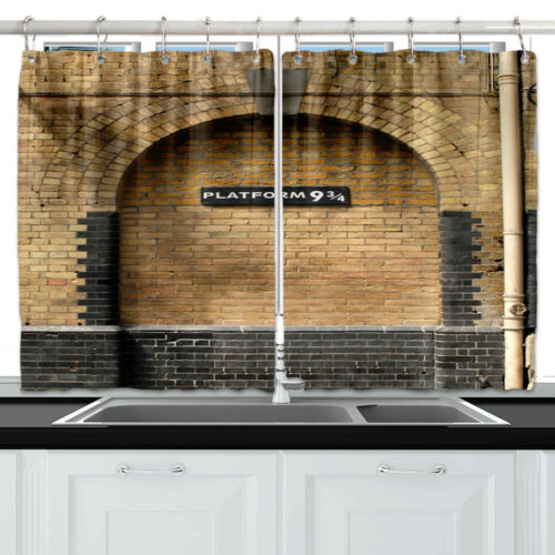 "55X39/"" Half Header Curtain Window Curtain Treatments Kitchen Curtains 2 Panels"