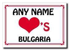 Love Heart Bulgaria Personalised Jumbo Magnet