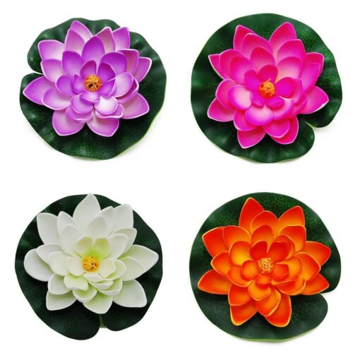 4PCS Lightingsky Artificial Floating Foam Lotus Flower Pond Decor Water Lily