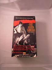 THE SEVEN SAMURAI  PARTS I & II AKIRA KUROSAWA TOSHIRO MIFUNE VHS