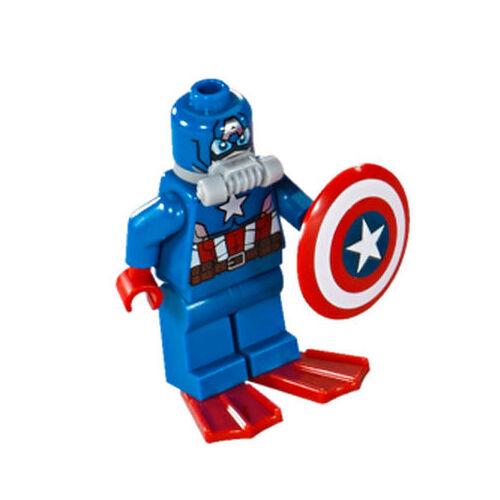 LEGO Marvel Super Heroes Minifigure - Scuba Captain America NEW minifig 76048