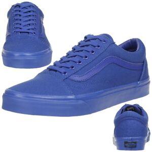 b6e0bc3c2e VANS Old Skool Classic mono Sneaker Skate Schuhe Canvas V4OJ5XT blau ...