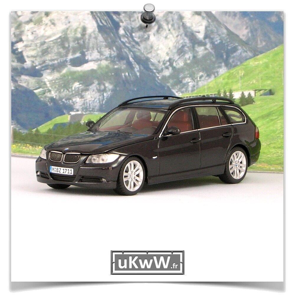 Minichamps 1 43 - Bmw 330 Touring 2006 noir métallisé