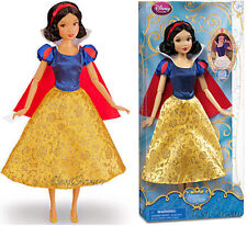 "NEW 2013 12"" Disney Store Princess SNOW WHITE & 7 Dwarfs Classic doll Gown"