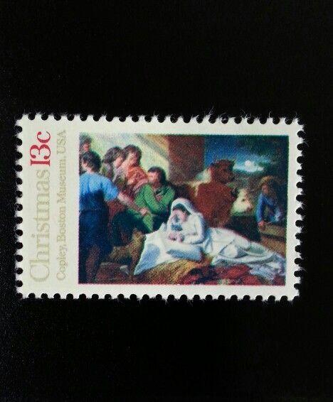 1976 13c Christmas Nativity, Copley, Boston Museum Scot