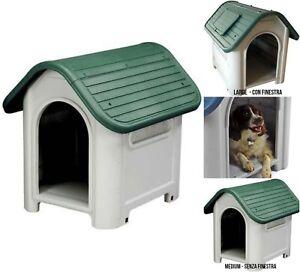 Cucce Per Cani Da Esterno In Plastica.Cuccia Per Cani Taglia Media Grande Casetta In Plastica Da Esterno