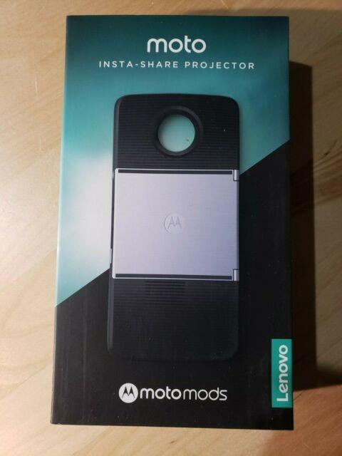 NEW Sealed Insta-Share Projector Moto Mods Black Motorola z z2 play force