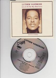 LUTHER-VANDROSS-PROMO-CDs-Love-is-on-the-way-1993-XPCD345