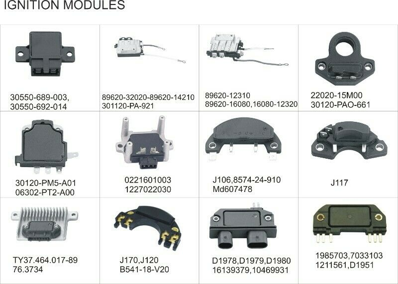 IGNITION MODULES- ALL TYPES