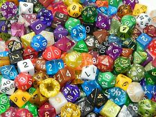 1/4 Pound Of Dice Polyhedral Including One Complete Set With Bag Dnd RPG D20 Lot