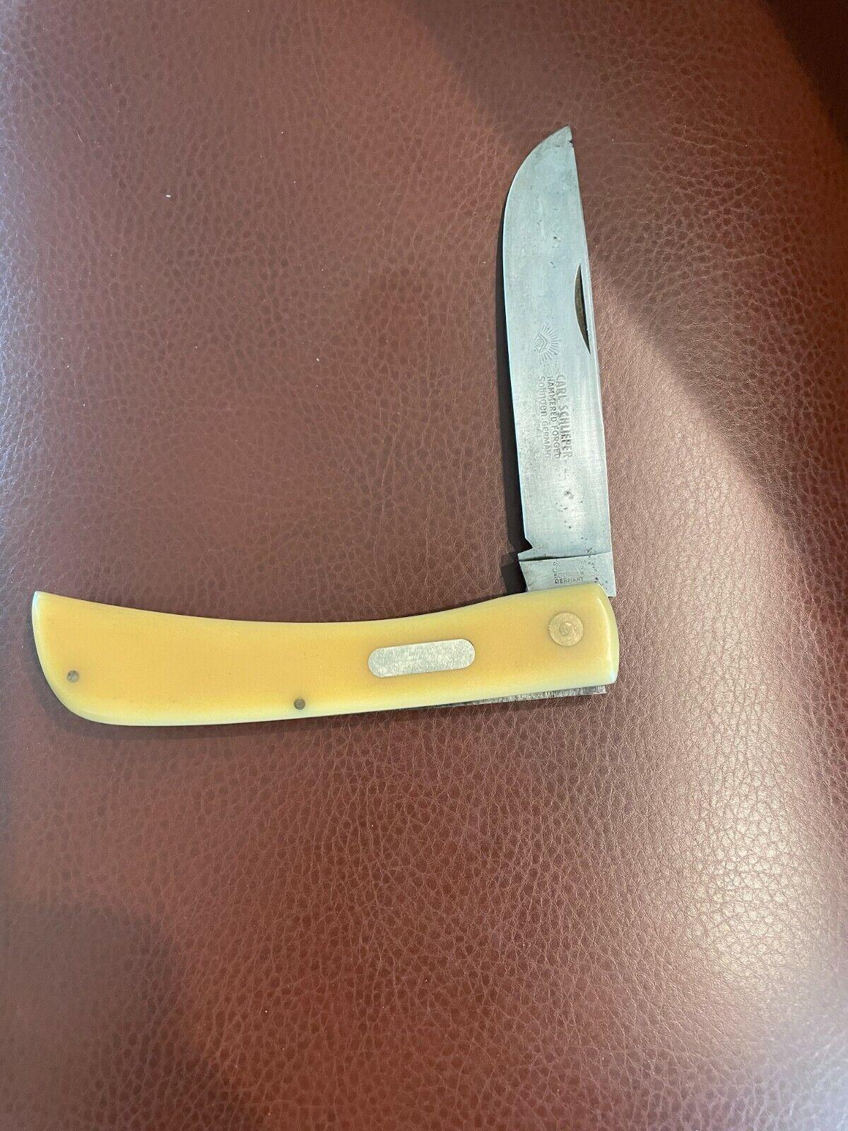 VINTAGE LARGE Eye Brand Knife Carl Schlieper Solingen GERMANY (RARE)