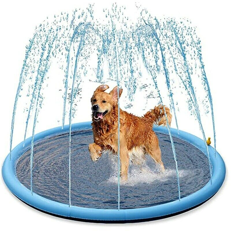 Smmer Dog Toy Splash Sprinkler Pad for Dogs Thicken Pet Pool Interactive Outdoor