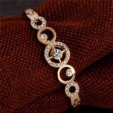 New Luxury Gold Plated Austrian Crystal Crosshair Bangle Bracelet Gift Jewellery