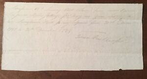 1800 -  Handwritten receipt.  James Rutherford  from Andrew Brodie.